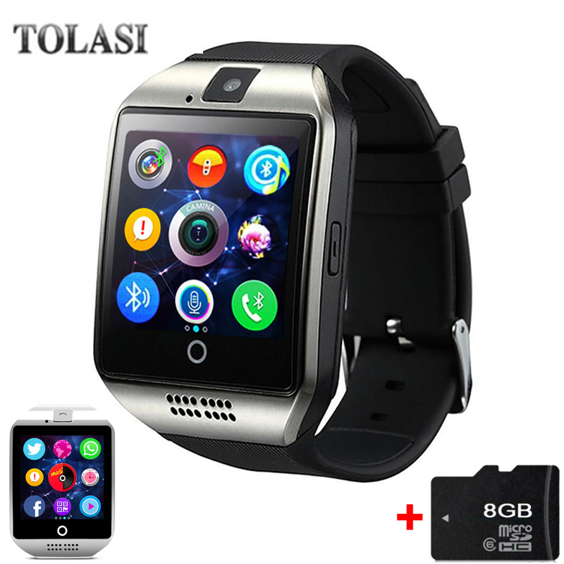 2018 TOLASI Smart Watch Q18 met Sim & TF-kaartsleuf Push Message - Herenhorloges