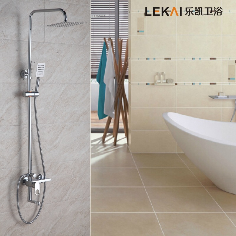 Thin section of stainless steel top spray turbo shower suit portable three speed faucet third gear