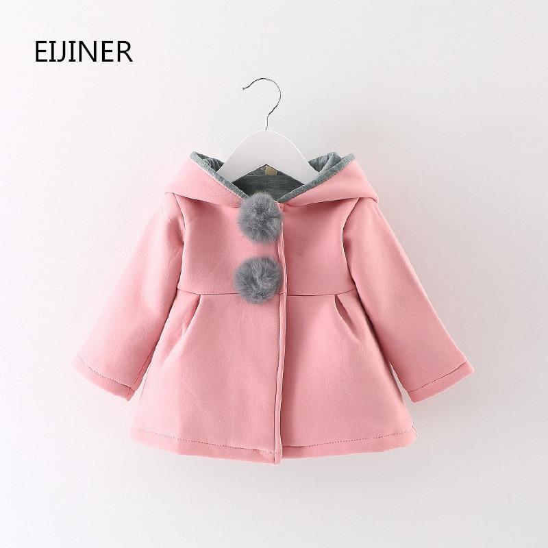 Søde varme piger jakker jakker efterår vinter 2017 hooded børn - Børnetøj