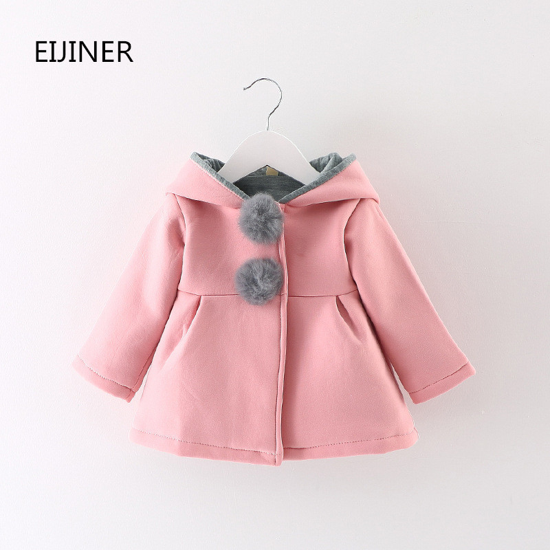 Lucu Gadis Mantel Hangat Jaket Musim Gugur Musim Dingin 2017 Anak - Pakaian anak anak