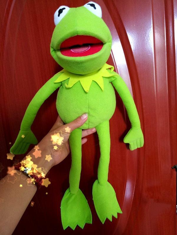 "Kermit Sesame Street Muppets Kermit the Frog Toy plush 18/"""