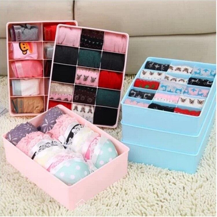 Home Storage Underwear Organizer Closet Drawer Divider Storage Box For Socks Ties Bra