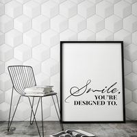 Smile Inspirational Wall Art Print Quote Modern Canvas Art Painting Wall Pictures For Bedroom Living Room