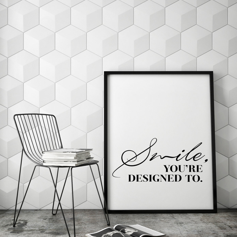 Smile Inspirational Wall Art Print Quote Modern Canvas Art