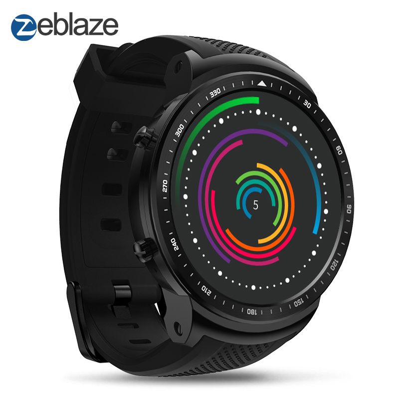 New Zeblaze Thor PRO 3G GPS Smartwatch 1.53inch Android 5.1 MTK6580 1.0GHz 1GB+16GB Smart Watch BT 4.0 Wearable Devices slimy s3 smart watch mtk6580 1gb 16gb 3g gps wifi 550mah smartwatch call reminder android 5 1 wearable devices for women men