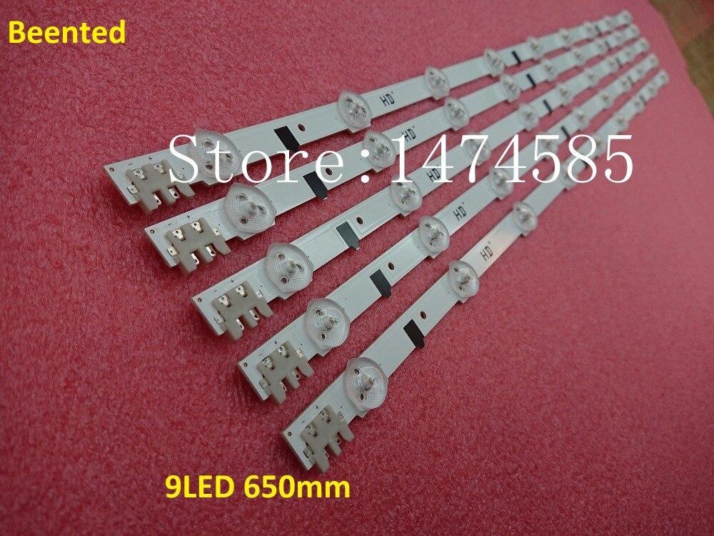 New 30 PCS lot 9LED 650mm LED backlight strip for samsung UE32F5000 D2GE 320SC0 R3 2013SVS32H
