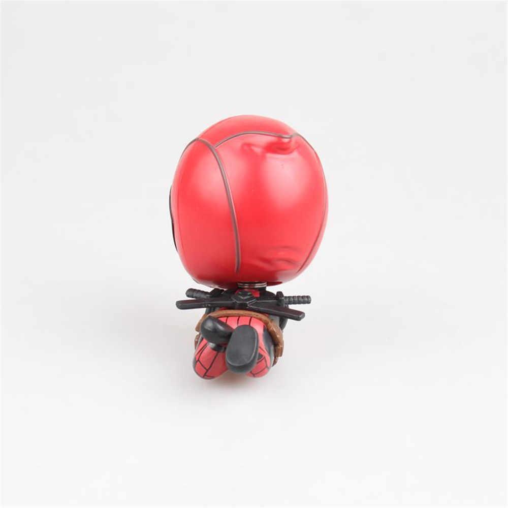 Deadpool 2 Anime Figura Balançando A Cabeça de Ver. Decoração do carro Brinquedos Quentes Para Crianças Modelo PVC Ação Boneca Caçoa o Presente Para Homens PM