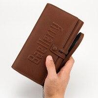 Luxury Men Clutch Bag Big Capacity Zipper Wallets Excellent PU Leather Men Wallet Brand Purse Male