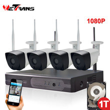 Wireless CCTV System 1080P Full HD Plug Play 20m Night Vision Outdoor Waterproof Wifi IP Camera Set NVR Camera Security System
