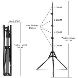 Image 2 - 72 дюйма/184 см фотография 1/4 винтовой складной штатив светильник кольсветильник света, рефлекторов, софтбоксов, зонтов, фона