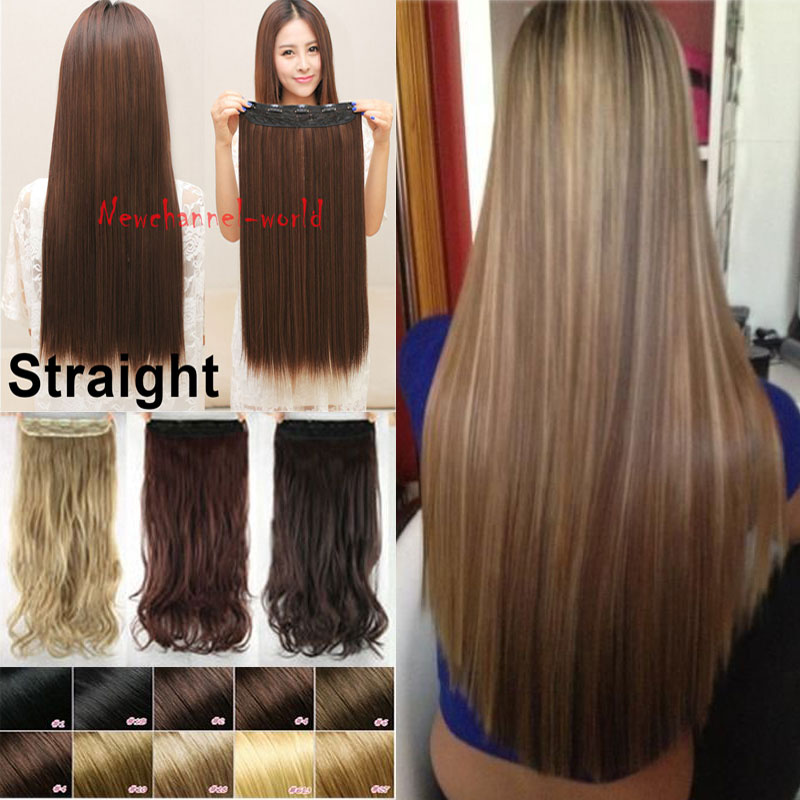 30 Inch Real Hair Clip Extensions Remy Indian Hair