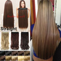 Free Shipping Real Thick 30 Inch One Piece Clip In Hair Extensions Natural Straight Long Synthetic Woman Lady Clip on hairpiece