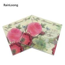 [Rainloong] guardanapo de papel flor para festas & festa dia dos namorados guardanapo de tecido fornecimento decoração 33*33cm 1 pacote