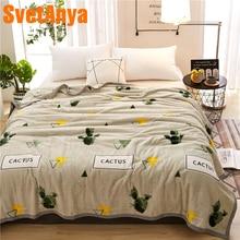 Svetanya Cactus Print Blanket warm Sheet S M L size
