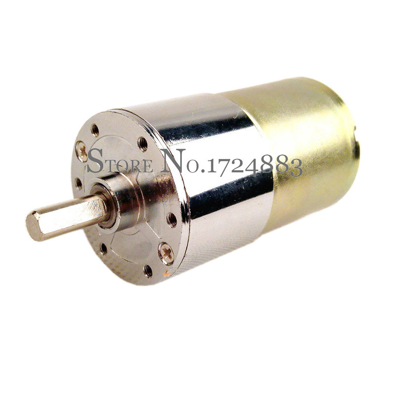 DC 6V~12V 550RPM Large Torque Mini Electric Gear Motor 37mm Metal Gearbox Motor