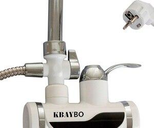 3000 Вт дисплей температуры мгновенный кран для горячей воды без резервуара Электрический кран для кухни мгновенный горячий кран водонагрев...