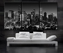 3 Pcs/Set Night View  Wall Art Canvas Paintings Decorations Artwork Home Decor