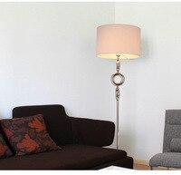 Nordic floor lamp living room modern bedroom floor light study led vertical lamp black white desk lamps lighing za992