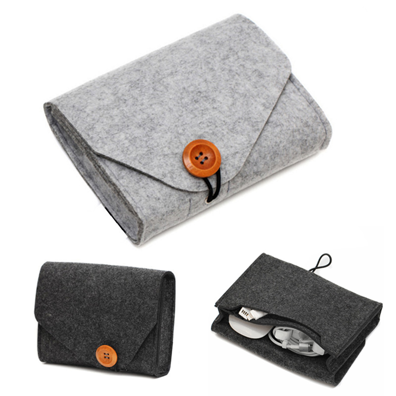 Travel-Organizer Earphone Coin-Package Power-Bank Felt-Pouch Data-Cable Sd-Card Home-Storage