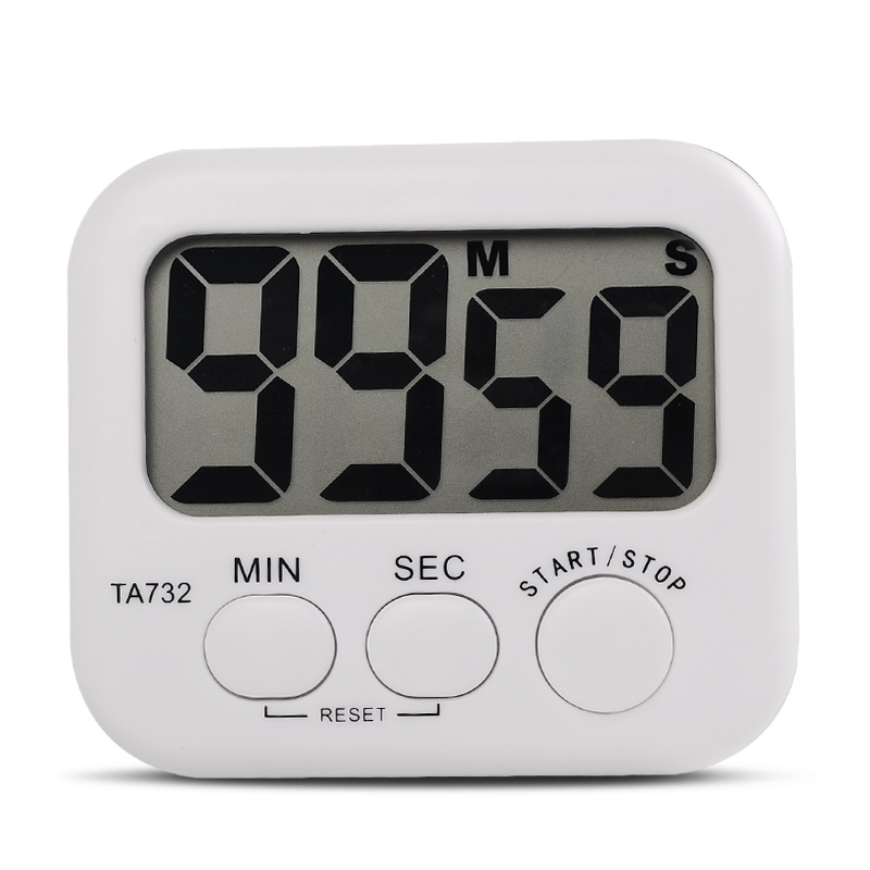 White Mini Electronic Large LCD Digital Kitchen Timer Clock Countdown Count Time Loud Alarm Home Oven Cooking Tools Accessories(China)
