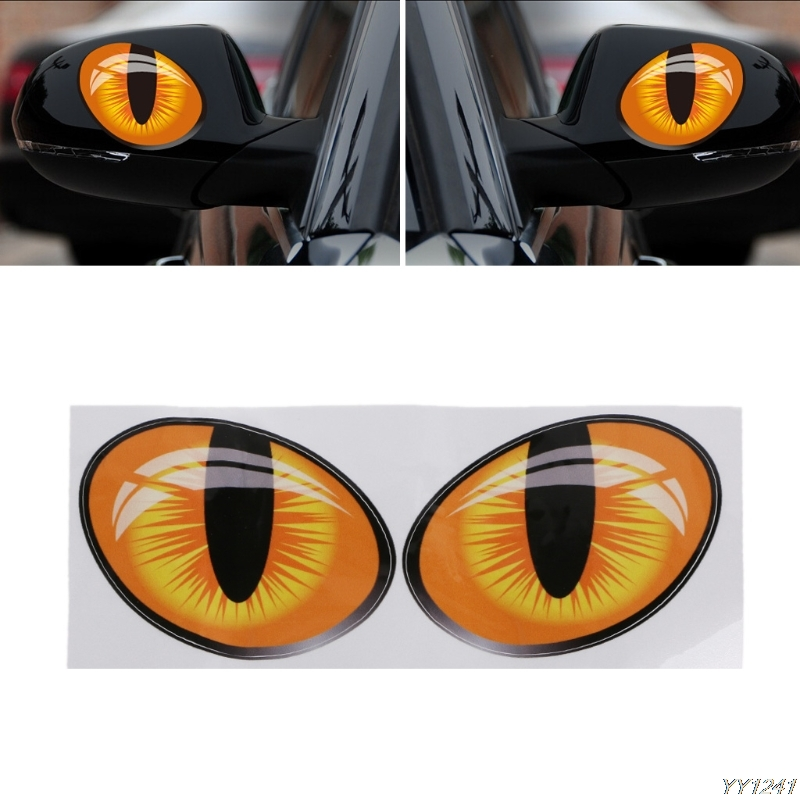 3D Cat Eyes Car Truck Mirror Stickers Window Decal Sticker Reflective Decals New Arrival