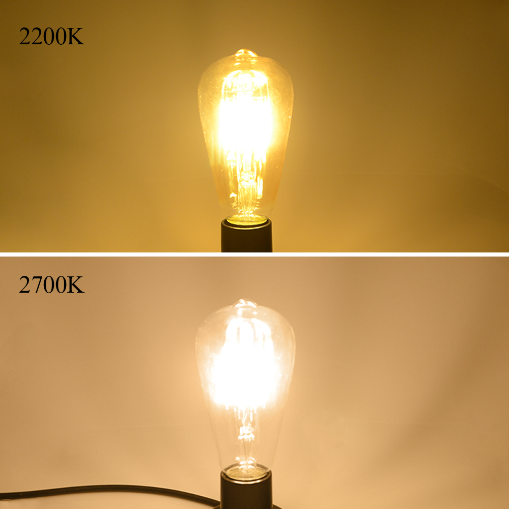 Vintage led edison filament bulb dimmable st64 e27 220v 2w 4w 6w vintage led edison filament bulb dimmable st64 e27 220v 2w 4w 6w 8w retro edison bulbs 110v led lamp replace incandescent light in led bulbs tubes from parisarafo Choice Image