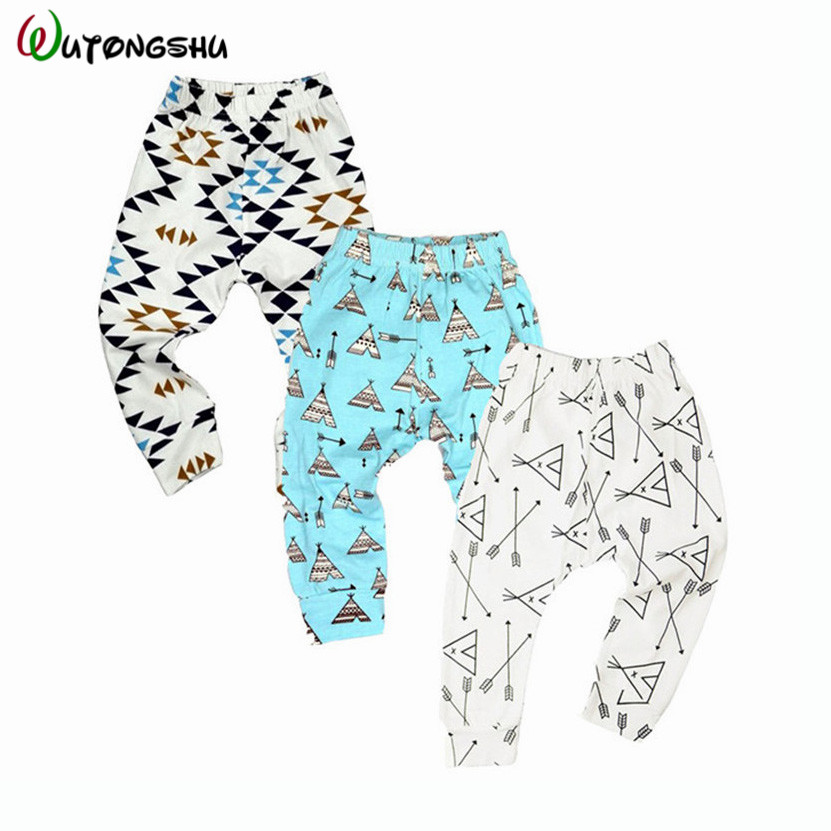 Retail/Wholesale 3pcs/Lot Baby Pants Boy Girls Cartoon Cotton Autumn Leggings Fashion Children Clothing Baby Trousers For 0-2T