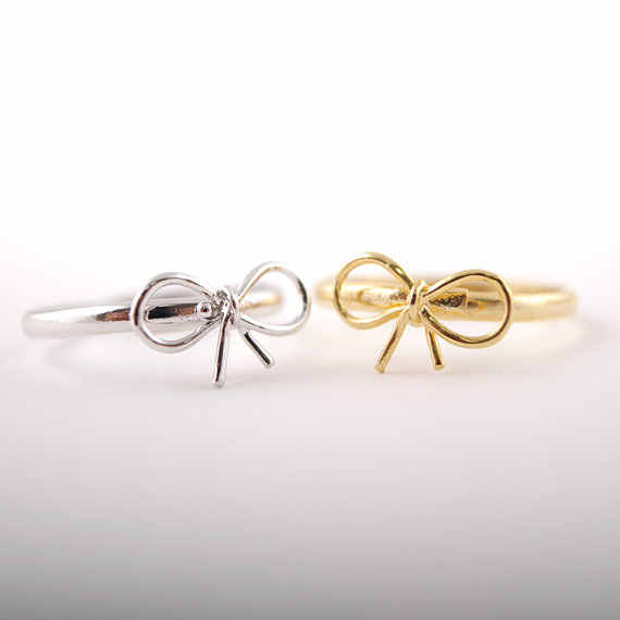 Jisensp 2019 New Arrival Lovely Design Knot Ribbon Rings Knuckle Ring Fashion Jewelry for women sisters Best Party Gift bijoux