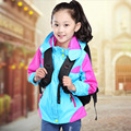 New Boys Girls Jacket Outdoor Children Hooded Sportswear Waterproof Coat Trench Sport Pizex Outerwear 4-13 Years Kids Clothes