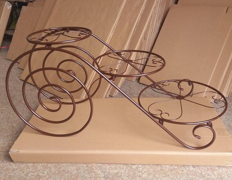 Grand plateau en métal de gâteau de support de gâteau (8 pouces-14 pouces) support de présentoir de Cupcake de 3 niveaux support de plateau de désert de fête d'anniversaire de mariage - 5
