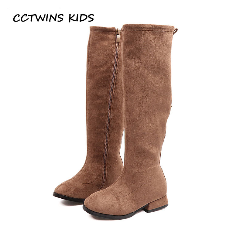 CCTWINS KIDS 2018 Autumn Children Genuine Leather Shoe Baby Girl Fashion Over The Knee Boot Toddler Brand Stud H021 cctwins kids 2017 children brand high boot kid fashion over the knee boot baby girl toddler genuine leather black shoe c1312