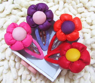 Free shipping 50pcs/lot 10color mix baby hair accessories ball side clip baby hairpin H7069