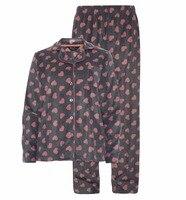 Winter Fleece Women Pajama Sets Warm Herart Snow Pattern Pyjamas Pajama Sets Pajamas Sleepwears Homewears S