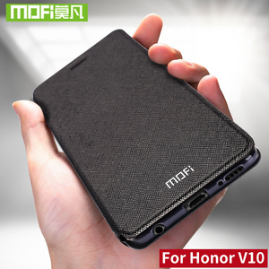 Image 1 - Para huawei honor caso V10 Para huawei honor v10 vista mofi filp couro honor V10 10 case capa silicone tpu protector 360 fundas