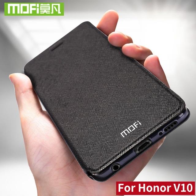 Para huawei honor caso V10 Para huawei honor v10 vista mofi filp couro honor V10 10 case capa silicone tpu protector 360 fundas