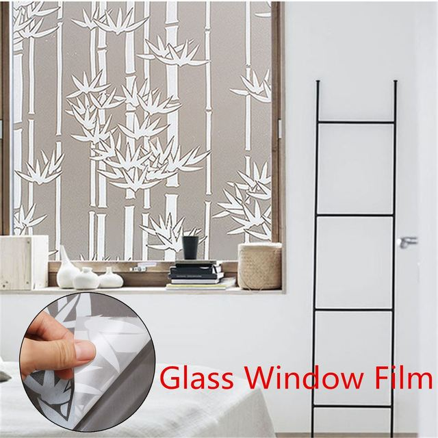 Glass Window Sticker Film Privacy PVC Frosted Bedroom Bathroom - Window stickers for home privacy