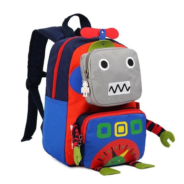 New Cute Girl Schoolbag Cartoon Robot Children School Bags For Boys Baby  School Backpacks Child Kids 0b11c1d495b52