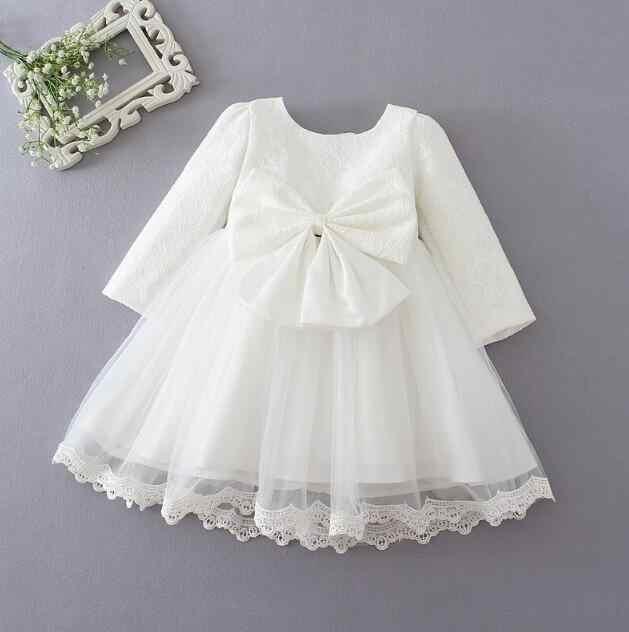 3cd419a78 Invierno recién nacido bebé niña vestido de boda vestido de bautismo bebé  vestido de princesa Arco
