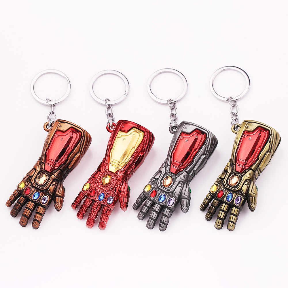 Мстители 4 танос перчатка бесконечности рукавица брелок Аниме Железный человек ручная клавиша кольцо для подарка chaviro брелок украшения ювелирных изделий