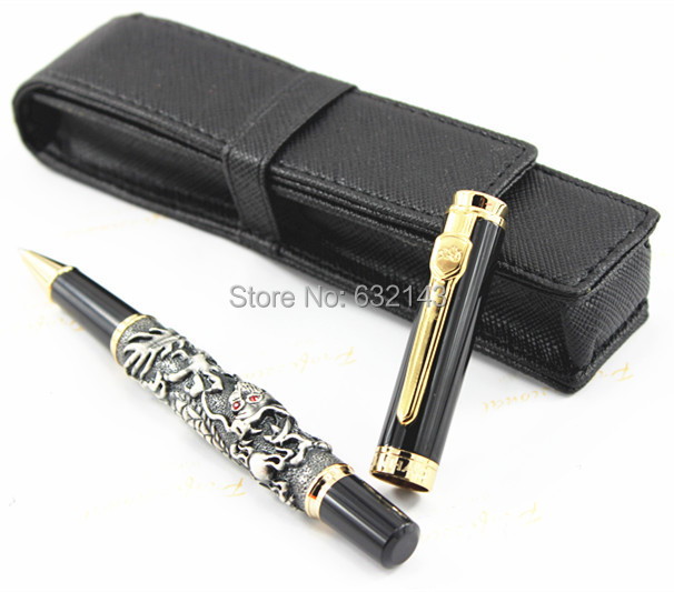 JINHAO  ANTIQUE BRASS / COPPER ROLLER BALL PEN DRAGON EMBOSSMENT FREE SHIPPING dragon head competitive slingshot antique brass silver