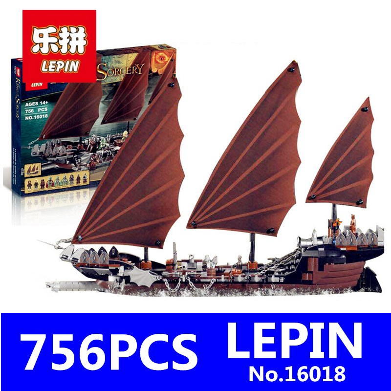 Lord of Rings Series LEPIN 16018 756pcs Genuine New The Ghost Pirate Ship Set Educational Building Blocks Bricks Boys Toys 79008 lepin movie series ghost pirate ship 16018 756pcs building block for children toys 79008 compatible legoe pirate ship