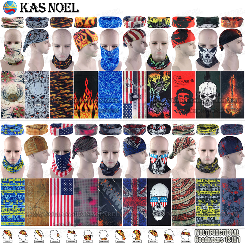 Flames Skull Motorcycle Tube Scarf  Headgear Riding Skull Face Shield Magic Seamless Bandana Outdoors Multifunctional Headwear