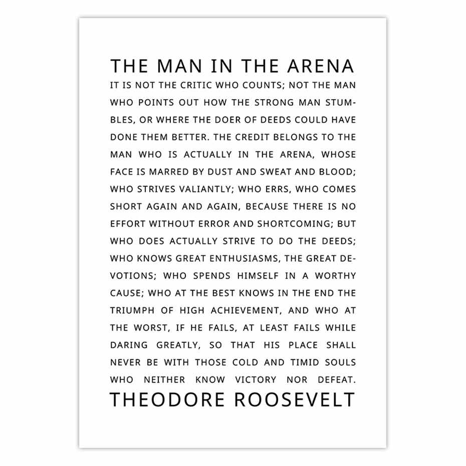 photo about The Man in the Arena Printable referred to as Offers Posters and Prints The Gentleman inside the Arena Motivational Inspirational Offers Business office Decor Dorm Bold Considerably House Decor