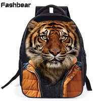 High Quality Children Backpacks For Boys Elementary Kids Schoolbag Cartoon Zoo Printing Girls Orthopedic School Bags