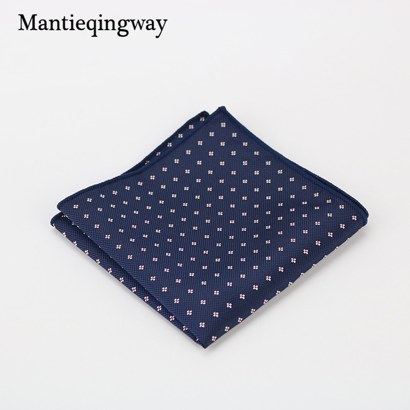 Mantieqingway Handkerchiefs Wedding Party Purple & Blue Paisley & Dot Pocket Square For Mens Business Suit Gift Hanky 23cm Towel