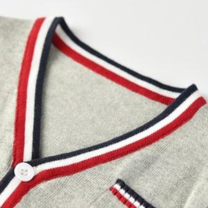 Image 3 - Vinnytido suéter de Navidad para niños, suéteres de un solo pecho con cuello en V, cárdigan de punto a rayas