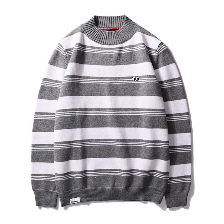 Aolamegs Striped Sweater Men Autumn Winter Fashion Casual Sweater Pullovers Harajuku Youth Couples Stripe Knitting Tops Clothing (2)
