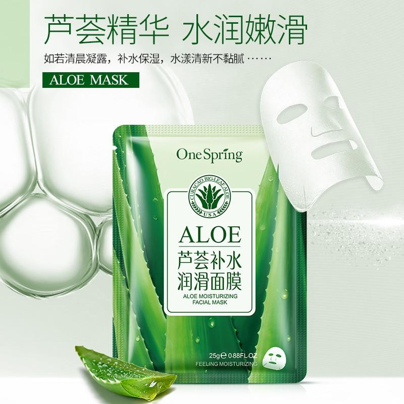 2018OneSpringAloe Vera Skin Rehydration Lubrication Moisture Nourish Oil Control Shrink Pore Mask 25g