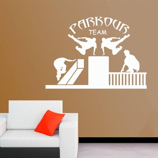 Street Sport Wall Decals Team Parkour Vinyl Sticker Free Running ...