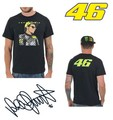 Valentino Rossi VR46 Black T-Shirt 46 The Doctor MotoGP Motor Sports Men's Shirt